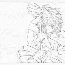 Sakura transformada - Dibujos para Colorear y Pintar - Dibujos para colorear MANGA - Dibujos para colorear SAKURA CAZADORA DE CARTAS - Dibujos infantiles para colorear SAKURA CAZADORA DE CARTAS