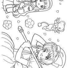 Sakura y amiga - Dibujos para Colorear y Pintar - Dibujos para colorear MANGA - Dibujos para colorear SAKURA CAZADORA DE CARTAS - Dibujos para colorear gratis SAKURA CAZADORA DE CARTAS