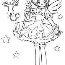 Sakura mágica - Dibujos para Colorear y Pintar - Dibujos para colorear MANGA - Dibujos para colorear SAKURA CAZADORA DE CARTAS - Dibujos infantiles para colorear SAKURA CAZADORA DE CARTAS