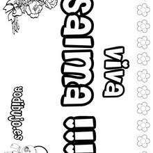 SALMA colorear nombres niñas - Dibujos para Colorear y Pintar - Dibujos para colorear NOMBRES - Dibujos para colorear NOMBRES NIÑAS