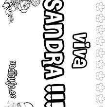 SANDRA colorear nombres niñas - Dibujos para Colorear y Pintar - Dibujos para colorear NOMBRES - Dibujos para colorear NOMBRES NIÑAS