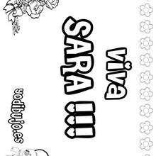 SARA colorear nombres niñas - Dibujos para Colorear y Pintar - Dibujos para colorear NOMBRES - Dibujos para colorear NOMBRES NIÑAS
