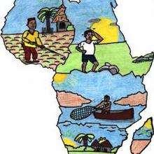 Ilustración : Vida cotidiana en África