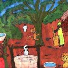 Ilustración : Pueblo africano
