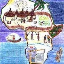 Vida en África - Dibujar Dibujos - Imagenes para niños - Imagenes del MUNDO - En África