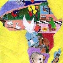 Colores de África - Dibujar Dibujos - Imagenes para niños - Imagenes del MUNDO - En África