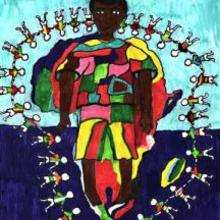 África por la paz - Dibujar Dibujos - Imagenes para niños - Imagenes del MUNDO - En África
