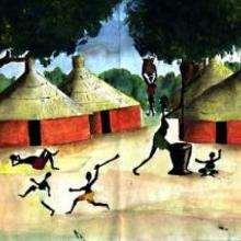 Chozas de Senegal - Dibujar Dibujos - Imagenes para niños - Imagenes del MUNDO - En África