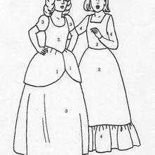 Señoras - Juegos divertidos - Juegos para IMPRIMIR - Juegos de PINTAR - Los personajes: dibujos mágicos