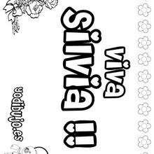 SILVIA colorear nombres niñas - Dibujos para Colorear y Pintar - Dibujos para colorear NOMBRES - Dibujos para colorear NOMBRES NIÑAS