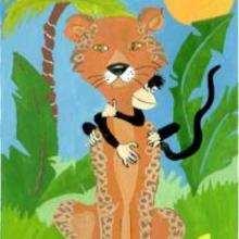 Ilustración : Mono escondido