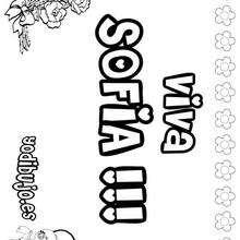 SOFIA colorear nombres niñas - Dibujos para Colorear y Pintar - Dibujos para colorear NOMBRES - Dibujos para colorear NOMBRES NIÑAS