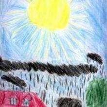 Ilustración : El sol y la lluvia