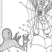Hoja para imprimir : Juego de puntos SPIDERMAN