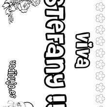 STEFANY colorear nombres niñas - Dibujos para Colorear y Pintar - Dibujos para colorear NOMBRES - Dibujos para colorear NOMBRES NIÑAS