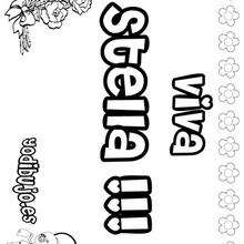 STELLA colorear nombres niñas - Dibujos para Colorear y Pintar - Dibujos para colorear NOMBRES - Dibujos para colorear NOMBRES NIÑAS