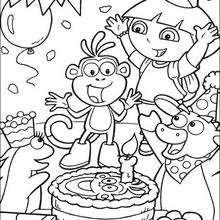 ¡Sorpresa! - Dibujos para Colorear y Pintar - Dibujos para colorear PERSONAJES - PERSONAJES TV para colorear - Dora y sus amigos para colorear