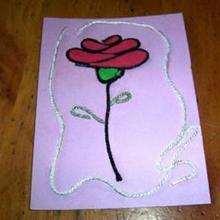 Manualidad infantil : Tarjeta flor para tu Mamá