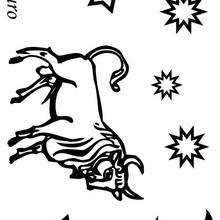 Tauro - Dibujos para Colorear y Pintar - Dibujos infantiles para colorear - Signos del Zodiaco para colorear