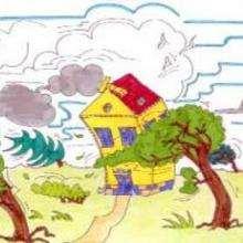 Tormenta - Dibujar Dibujos - Imagenes para niños - Imagenes PAISAJE