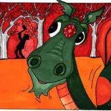 Ilustración : Cabeza de dragón