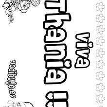 THANIA colorear nombres niñas - Dibujos para Colorear y Pintar - Dibujos para colorear NOMBRES - Dibujos para colorear NOMBRES NIÑAS