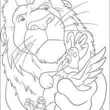 Samson y el gallo - Dibujos para Colorear y Pintar - Dibujos de PELICULAS colorear - Dibujos para colorear SALVAJE PELICULA - Dibujos para pintar gratis SALVAJE