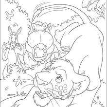 Dibujo para colorear : Ryan y el hipopotamo
