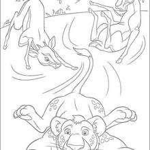 Ryan y las antílopes - Dibujos para Colorear y Pintar - Dibujos de PELICULAS colorear - Dibujos para colorear SALVAJE PELICULA - Dibujos para colorear e imprimir SALVAJE
