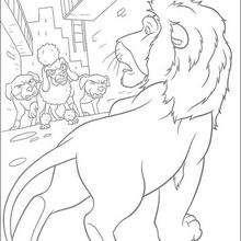 Samson contra los perros - Dibujos para Colorear y Pintar - Dibujos de PELICULAS colorear - Dibujos para colorear SALVAJE PELICULA - Dibujos para colorear gratis SALVAJE