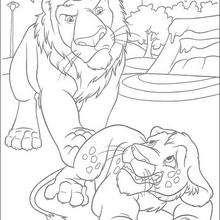 Samson enfadado - Dibujos para Colorear y Pintar - Dibujos de PELICULAS colorear - Dibujos para colorear SALVAJE PELICULA - Dibujos para pintar SALVAJE