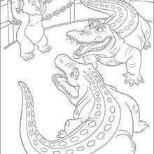 Nigel y los cocodrilos - Dibujos para Colorear y Pintar - Dibujos de PELICULAS colorear - Dibujos para colorear SALVAJE PELICULA - Dibujos infantiles para colorear SALVAJE