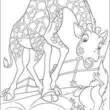 Bridget y Benny - Dibujos para Colorear y Pintar - Dibujos de PELICULAS colorear - Dibujos para colorear SALVAJE PELICULA - Dibujos para pintar SALVAJE