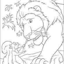 El bigote de Samson - Dibujos para Colorear y Pintar - Dibujos de PELICULAS colorear - Dibujos para colorear SALVAJE PELICULA - Dibujos para colorear gratis SALVAJE