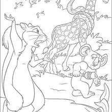Dibujo para colorear : Benny y sus amigos