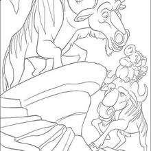 Nigel con los ñus - Dibujos para Colorear y Pintar - Dibujos de PELICULAS colorear - Dibujos para colorear SALVAJE PELICULA - Dibujos para pintar gratis SALVAJE