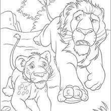 Dibujo para colorear : Samson y Ryan corren