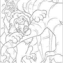 Dibujo para colorear : La caida de Samson
