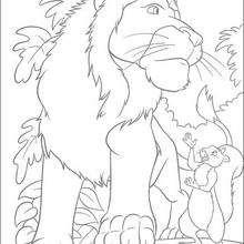 Samson y su amigo Benny - Dibujos para Colorear y Pintar - Dibujos de PELICULAS colorear - Dibujos para colorear SALVAJE PELICULA - Dibujos para colorear e imprimir SALVAJE