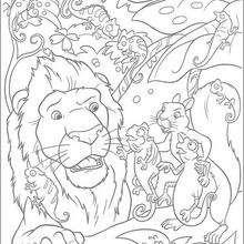 Samson, Benny y los cameleones - Dibujos para Colorear y Pintar - Dibujos de PELICULAS colorear - Dibujos para colorear SALVAJE PELICULA - Dibujos para colorear gratis SALVAJE