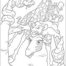 Bridget la jirafa elástica - Dibujos para Colorear y Pintar - Dibujos de PELICULAS colorear - Dibujos para colorear SALVAJE PELICULA - Dibujos para colorear gratis SALVAJE