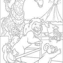 En el Zoo de Nueva York - Dibujos para Colorear y Pintar - Dibujos de PELICULAS colorear - Dibujos para colorear SALVAJE PELICULA - Dibujos para colorear gratis SALVAJE