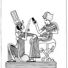 Toutânkhamon - Dibujos para Colorear y Pintar - Dibujos para colorear los PAISES - EGIPTO para colorear - Dibujos de los FARAONES DEL ANTIGUO EGIPTO para pintar