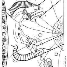 Dibujo malabaristas - Dibujos para Colorear y Pintar - Dibujos infantiles para colorear - Circo para colorear