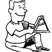 Triángulo - Dibujos para Colorear y Pintar - Dibujos infantiles para colorear - Instrumentos de Música: dibujos para colorear