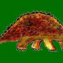 Un anquilosaurio - Dibujar Dibujos - Dibujos de NIÑOS - Dibujos de ANIMALES - Dibujos de  animales por ORDENADOR