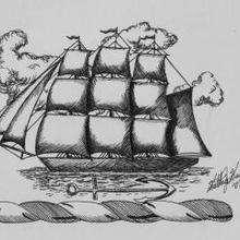 Un barco bonito - Dibujar Dibujos - Dibujos de NIÑOS - Dibujos de la NATURALEZA