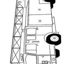 Dibujo para colorear : el camión de los bomberos