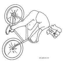 Dibujo para colorear : Paseo en bicicleta