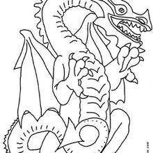 Un dragón - Dibujos para Colorear y Pintar - Dibujos para colorear de FANTASIA - Dibujos para colorear DRAGONES - Dibujos de DRAGÓN para colorear